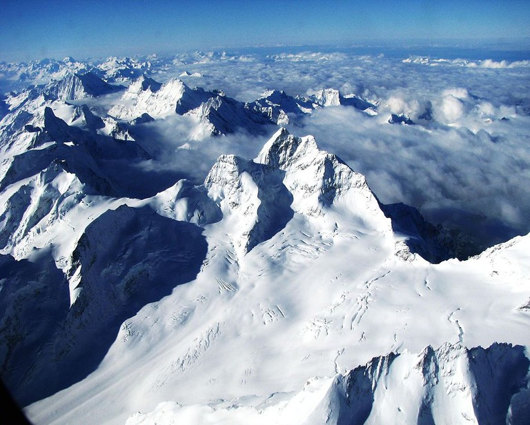 The Bernese Alps from above