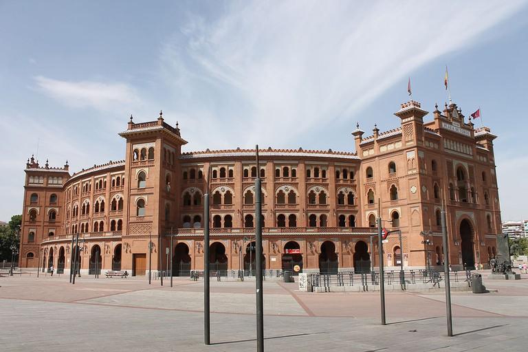 Façade of Las Ventas Bullring in Madrid