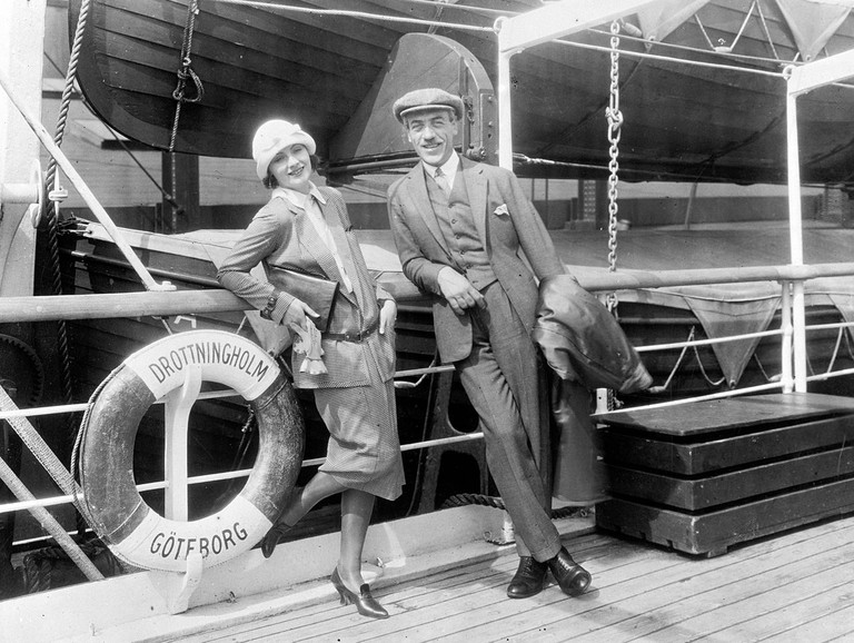 Garbo and Stiller on their way to America, 1925
