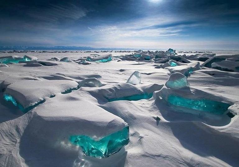 Ice at Lake Baikal