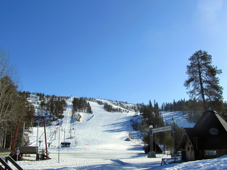 Salla ski slope