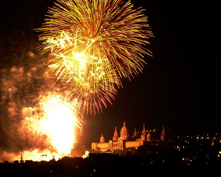 The closing celebration of La Mercè at the MNAC I