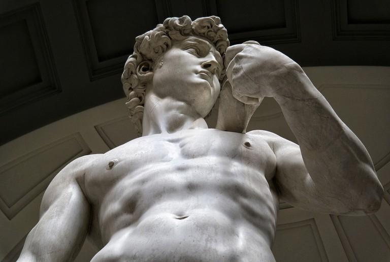 The David of Michelangelo
