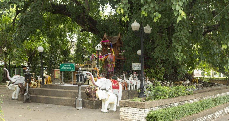 A spirit house in Udon Thani