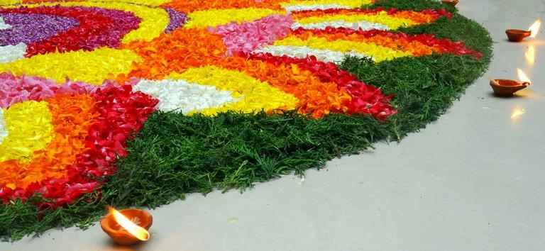 Onam floral designs