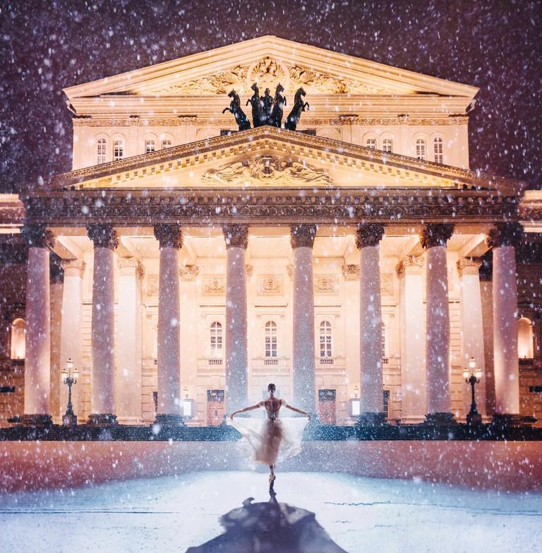 Bolshoi Theatre in winter I