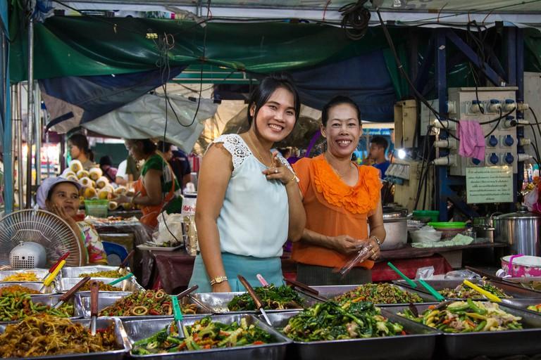 Market food vendors