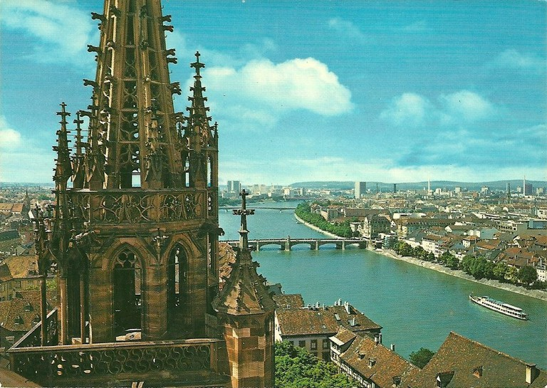 Basel's dramatic cathedral dominates the city's skyline