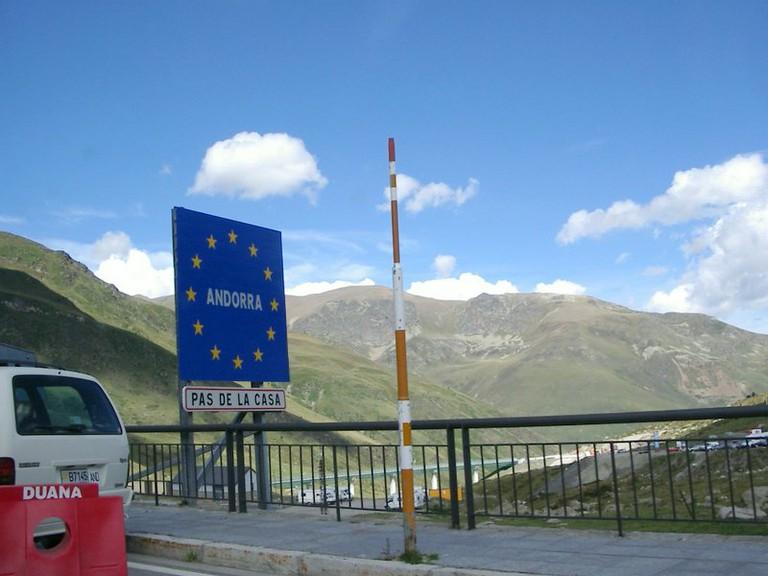 Andorran border crossing
