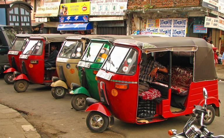 Sri Lanka - 077 - Tuk-tuks waiting for fares in Kandy © McKay Savage