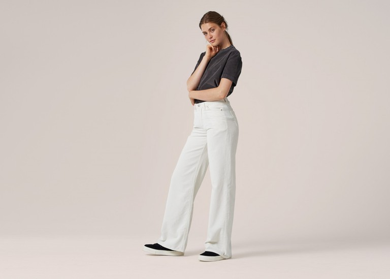 Wide Leg Corduroy Pants, $160.00