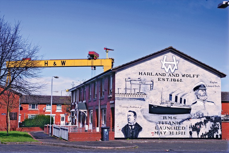 Harland and Wolff mural
