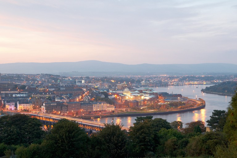 Derry viewed from one of those hills