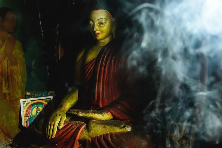 Buddha in the cave temples of Sasseruwa, Sri Lanka | © Christiane Birr/Flickr