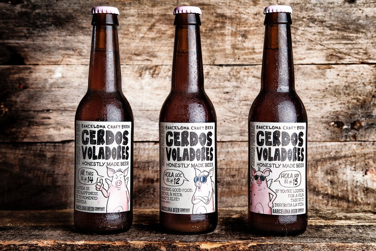 The Cerdos Voladores Beer Courtesy of Barcelona Beer Company