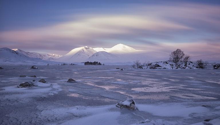 Frozen Loch, West Highlands