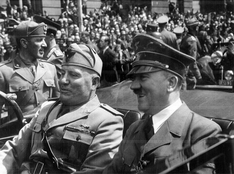 Mussolini and Hitler in Munich, 1940