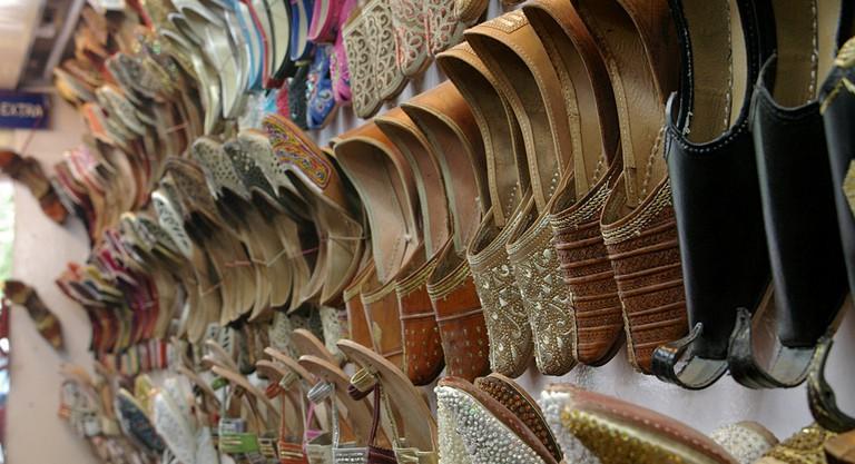 Shoes at Janpath Market
