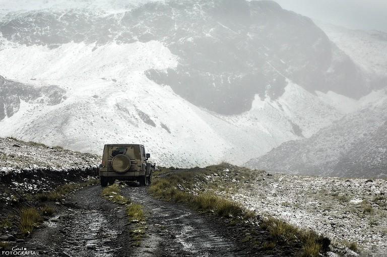 Bad roads in Bolivia