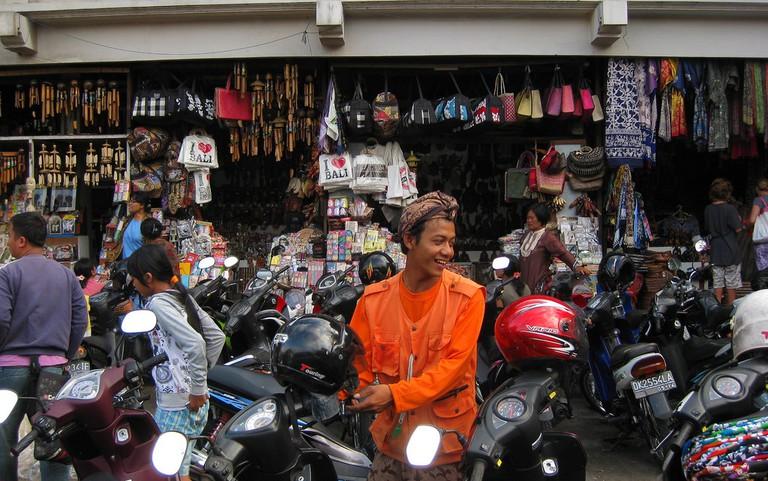 Traditional souvenir market in Ubud, Bali