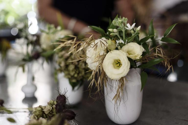 Seasonal flower arrangements by Julie Guittard