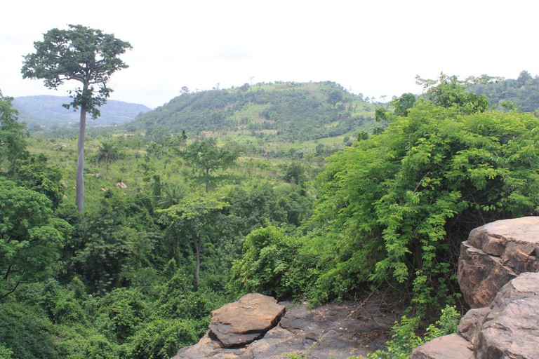 View Atop Akaa Falls, Ghana