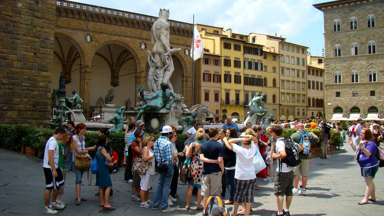 Crowd in Florence