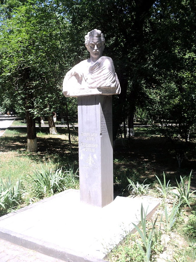 Khalil Gibran monument in Yerevan
