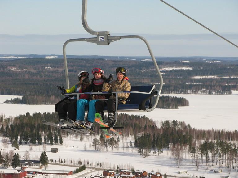 Ski lift in Tahko