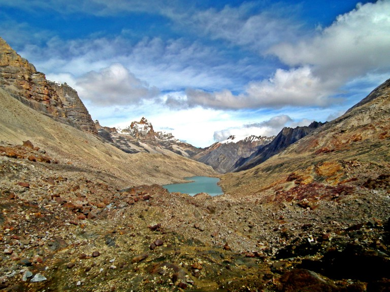 Glacial lakes and snow-capped peaks in El Cocuy