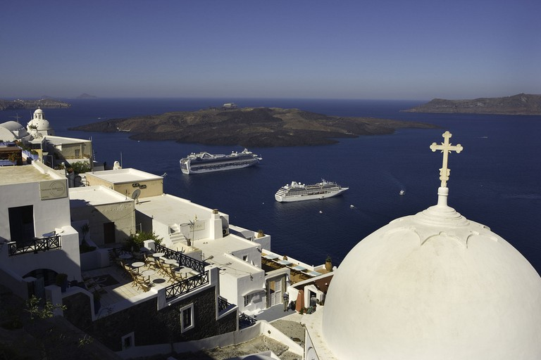 Cruising in Santorini