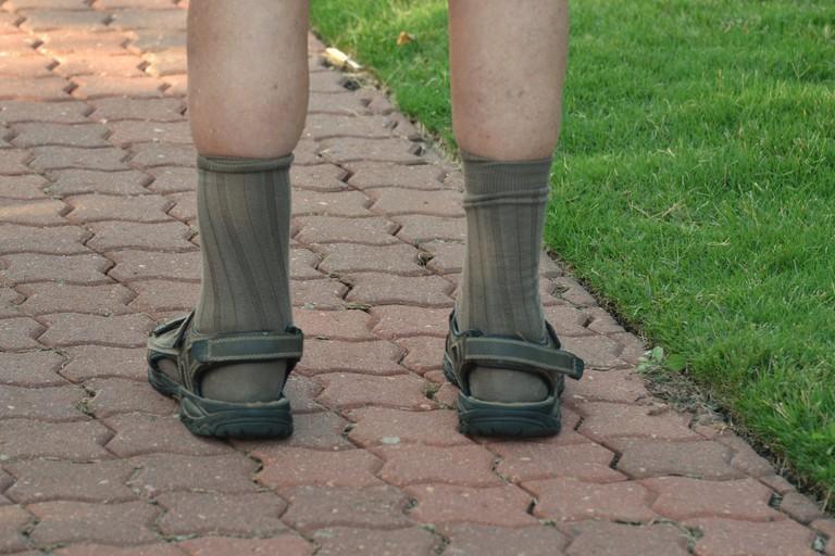 Sandals and socks © Tony Alter