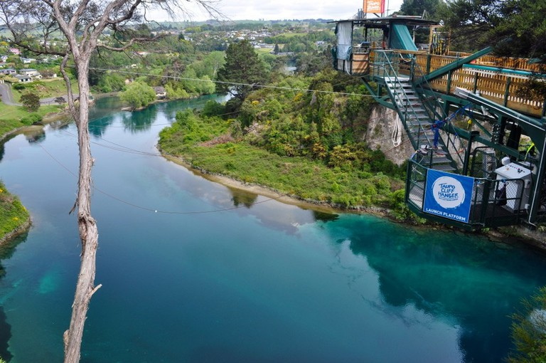 Bungy Platform in Taupo, New Zealand