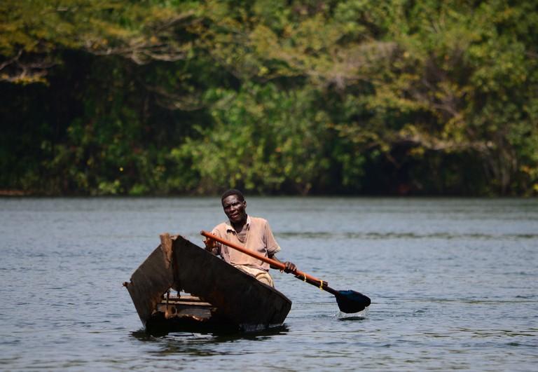 Akosombo River Man