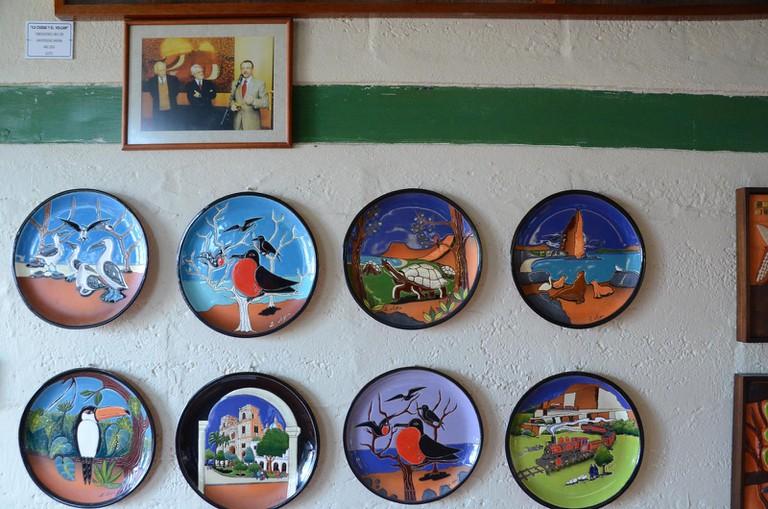 Eduardo Vega artwork on display at the Eduardo Vega Gallery and Workshop in Cuenca, Ecuador