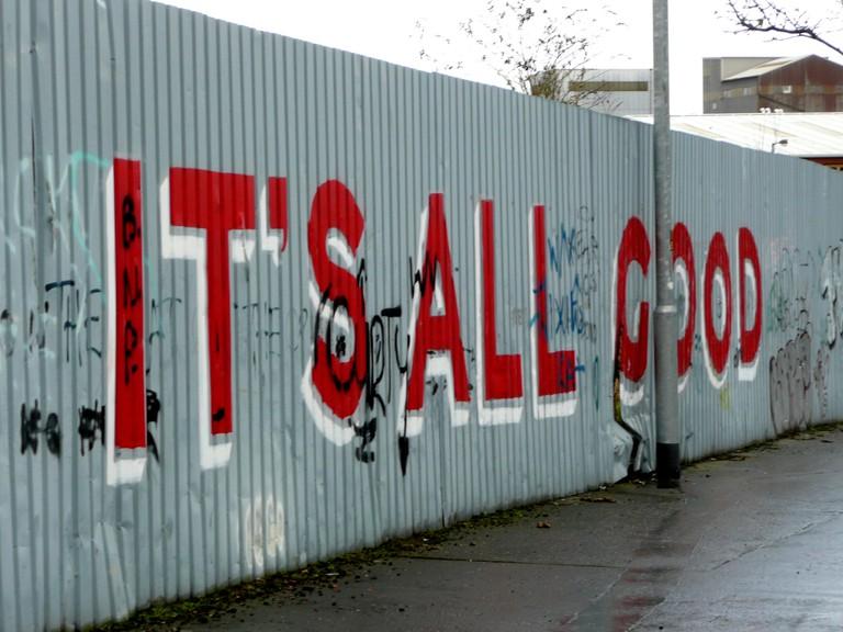 IT'S ALL GOOD mural, Belfast