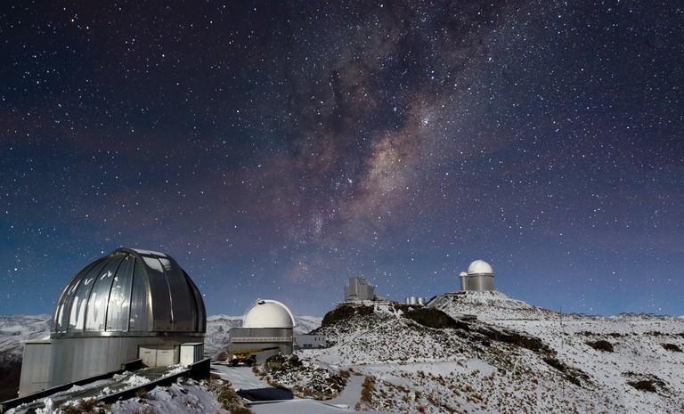 Milky Way Shines over Snowy La Silla