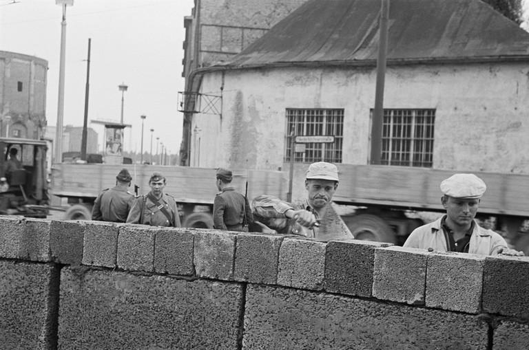 East German workers