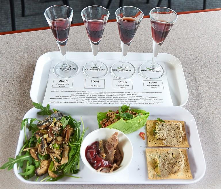 Gisborne Peak Pinot Noir and Food Sampler Plate