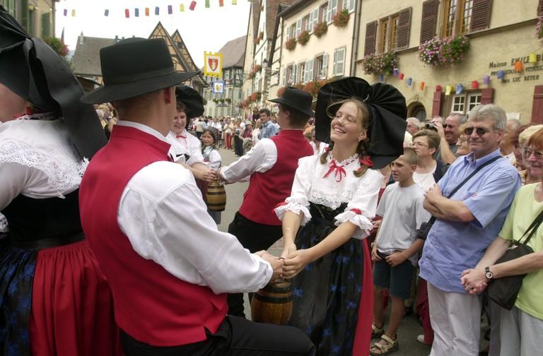 Alsatian folk dancing