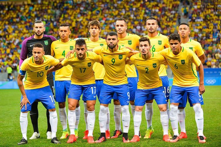 Brazil football colours |©Marcelo Camargo/Agência Brasil/WikiCommons