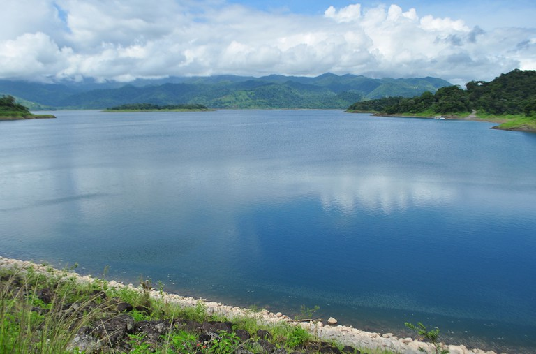The calm waters of Lake Arenal