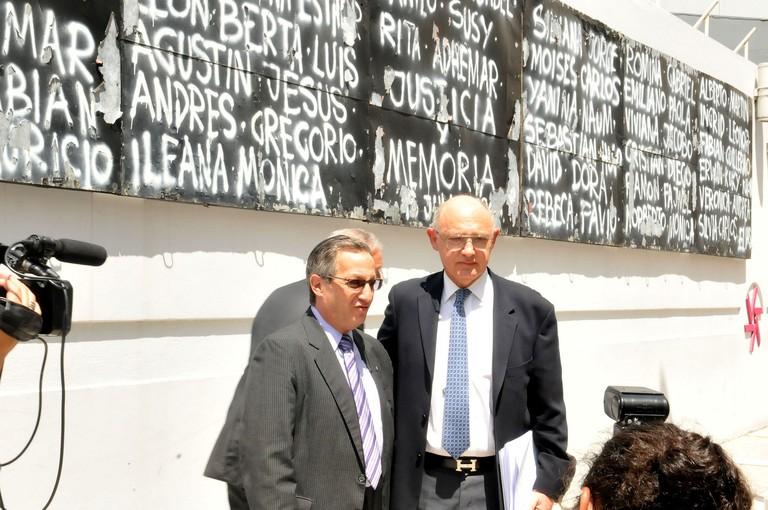 Commemorative mural outside the AMIA
