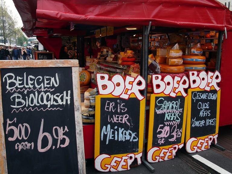 Cheese on sale at Dappermarkt