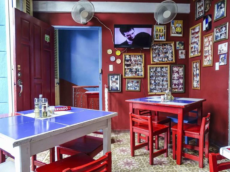 Restaurant interior in Havana