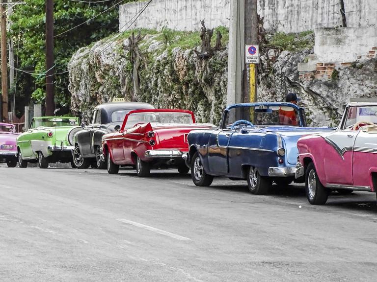 Antique American cars in Cuba