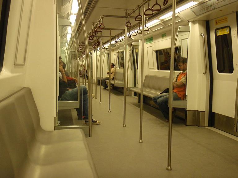 Delhi Metro train carriage