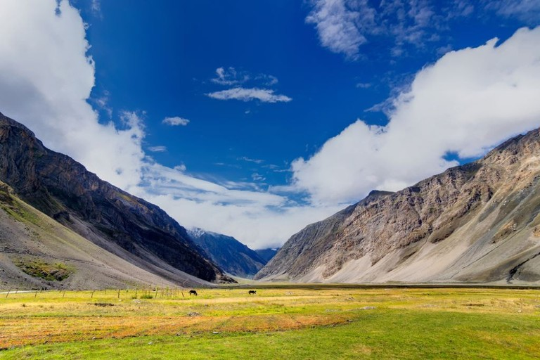 Scenic landscape of Dras