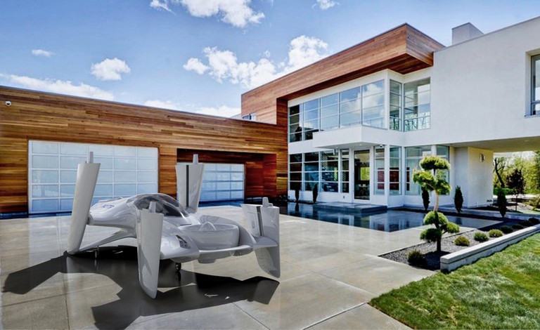 The flying car at home