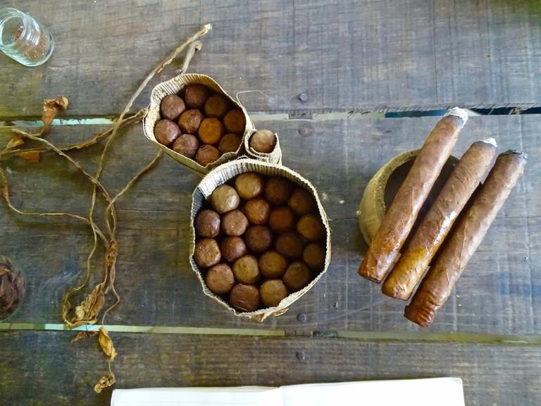 Montecristo cigars in Viñales, Cuba